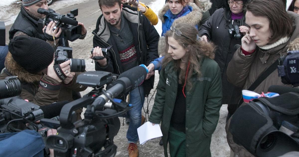 Pussy Riot member Maria Alyokhina goes free in Nizhny Novgorod.</p>