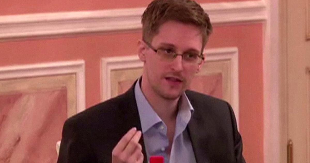 Former NSA contractor and whistleblower Edward Snowden, pictured reportedly on October 9, 2013.</p>