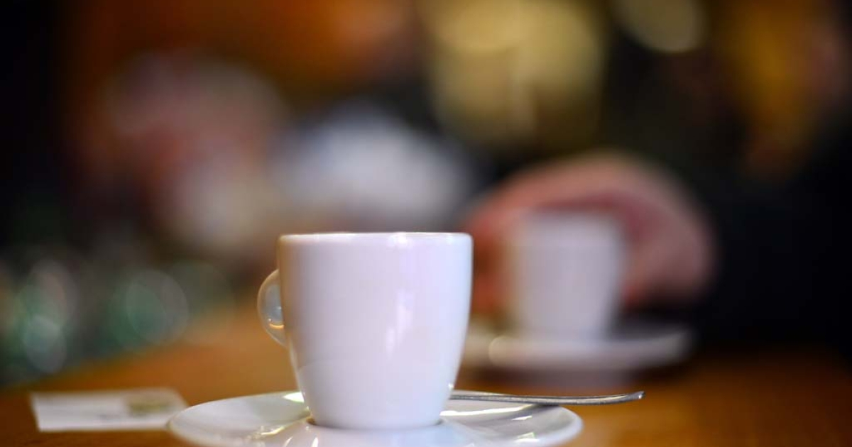 A coffee cup in Rome, Jan. 29, 2013.</p>