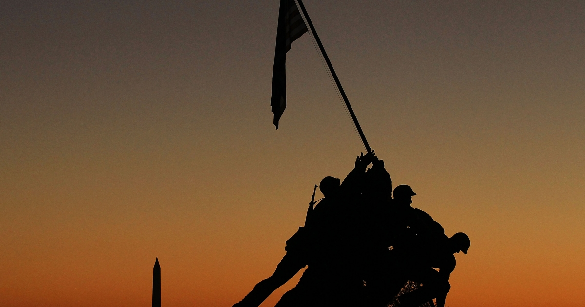 The 20-foot statue of the flag raising by Marines at Iwo Jima will be auctioned by a American war artifact collector Rodney Hilton later this month.</p>