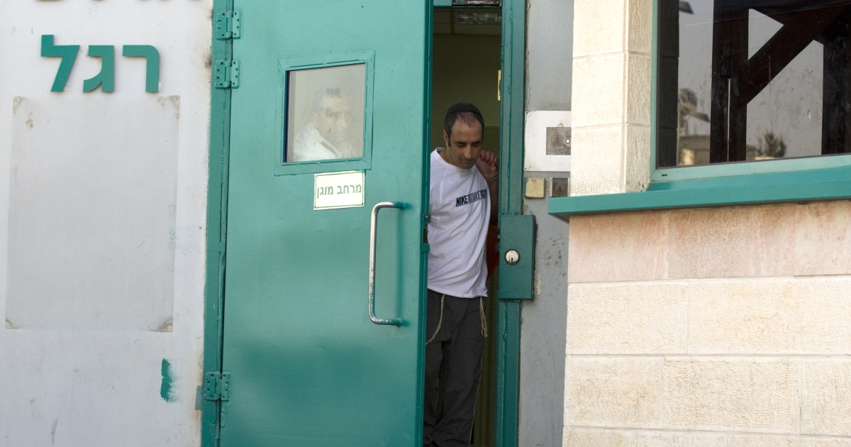 Hagai Amir, the brother and key accomplice of the man who assassinated Israeli prime minister Yitzhak Rabin, leaves Ayalon prison in Ramla near Tel Aviv on May 4, 2012. Amir was freed from prison after serving 16 years in prison for complicity in the murder of Rabin, and another six months for death threats he made against former prime minster Ariel Sharon.</p>