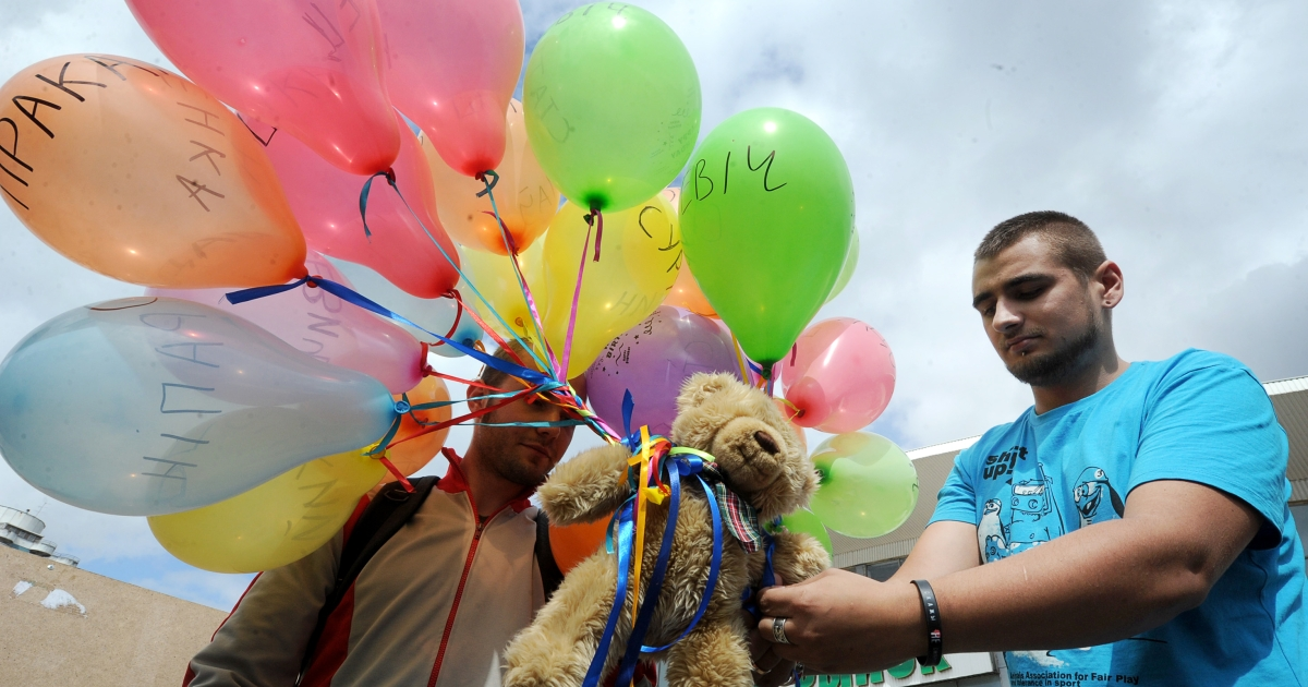 A Belarusian border guard received a two-year prison sentence Monday after a Belarus court said he failed to stop a teddy bear drop protest.</p>