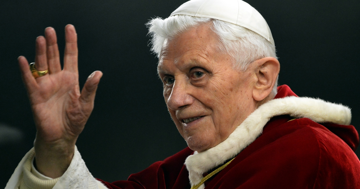 Pope Benedict XVI salutes as he arrives in St. Peter's Square on December 29, 2012. The pope on February 11, 2013 announced he will resign on February 28, which will make him the first pope to do so in centuries.</p>