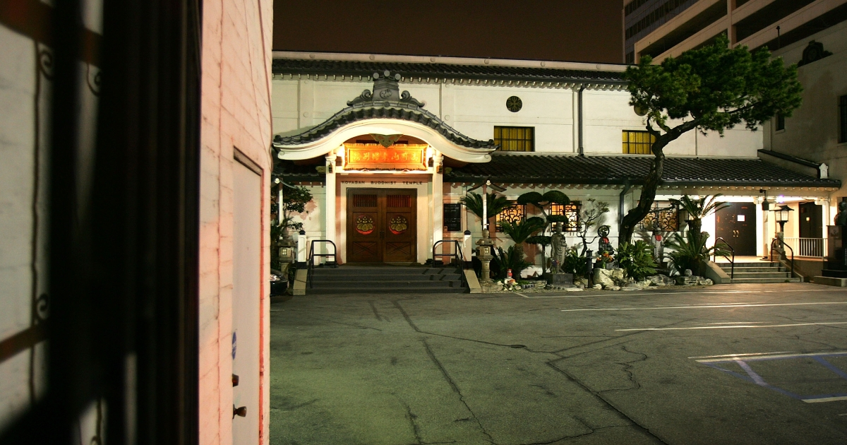 A Buddhist temple in Los Angeles, California. An estimated 40 percent of all American Buddhists live in Southern California.</p>