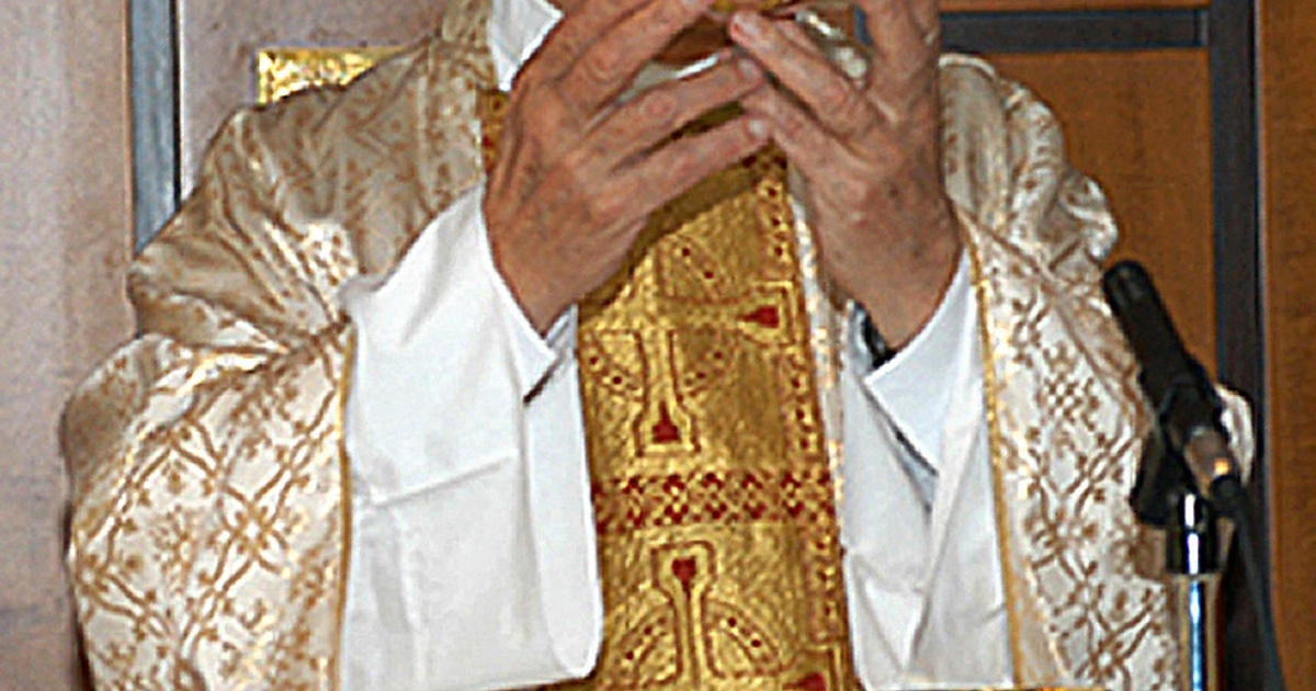 Mexican catholic Father Marcial Maciel celebrating the solemn Mass on August 15, 2005 in Rome.</p>