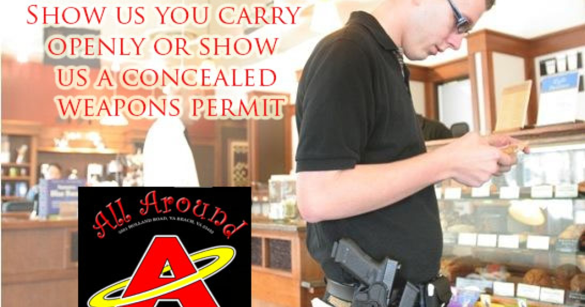 A pizza restaurant owner in Virginia offers customers who bring in guns 15 percent off their bill.</p>