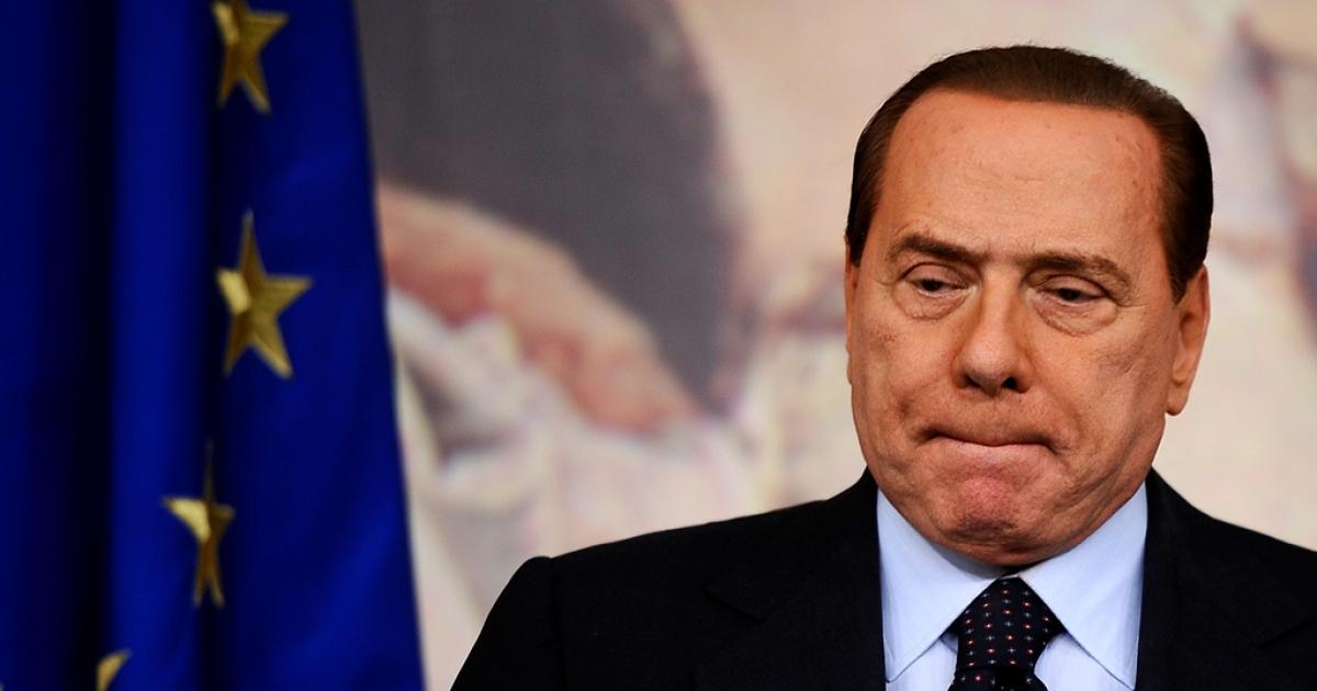 Prime Minister Silvio Berlusconi attends a press conference in Rome's Palazzo Chigi on Oct. 22, 2010.</p>