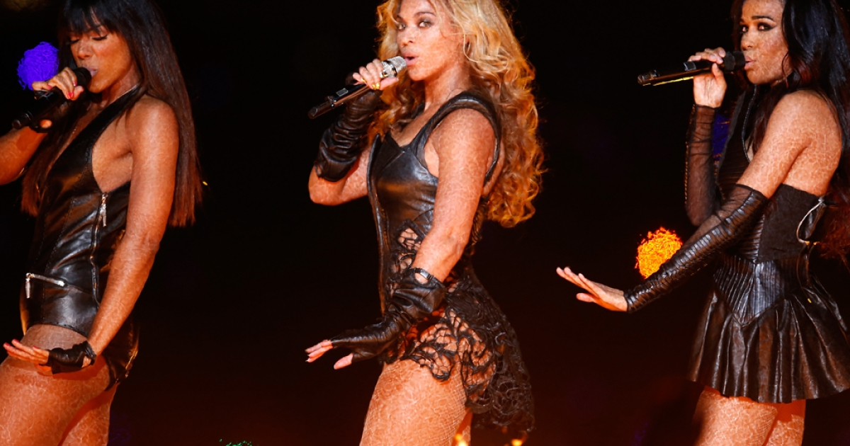 Singer Beyonce performs during the Pepsi Super Bowl XLVII Halftime Show at the Mercedes-Benz Superdome on Feb. 3, 2013, in New Orleans, La.</p>
