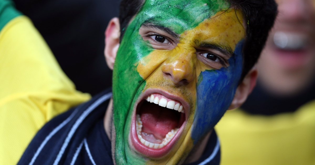 From fireworks to flags almost as large as the field, Brazilian soccer matches are a riot of noise and passion.</p>