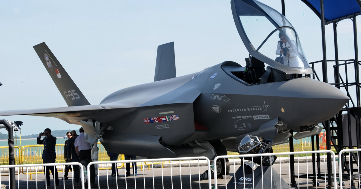 The US military has grounded its entire fleet of F-35 stealth fighters, the most expensive weapons program in history, after finding a crack in one of the multi-million-dollar plane's engines.</p>