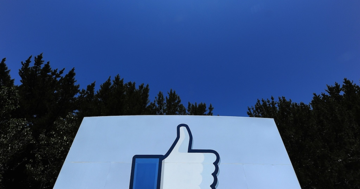 A thumbs up or 'Like' icon at the Facebook main campus in Menlo Park, California, May 15, 2012. Facebook announced on February 16th that it had been hit by a hacking attack, although no user data appears to have been compromised.</p>