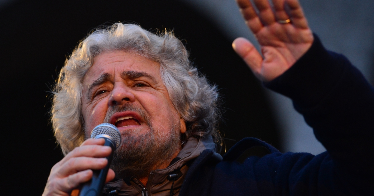 Comedian Beppe Grillo's populist Five Star Movement shot to prominence criticizing Prime Minister Mario Monti's austerity policies.</p>