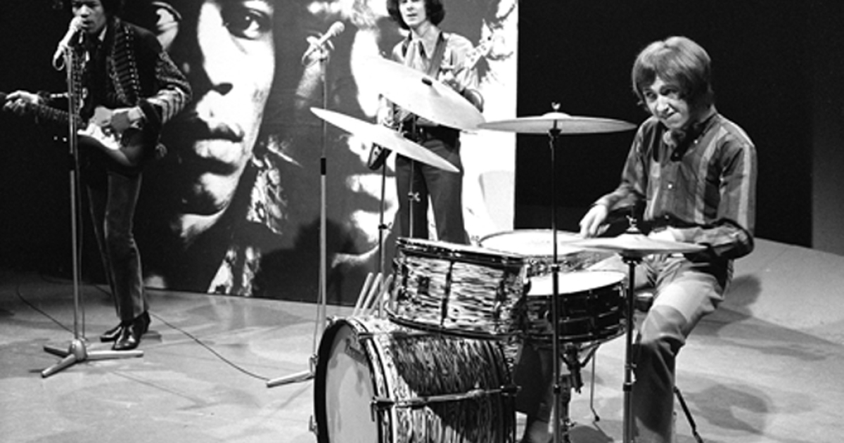 The Jimi Hendrix Experience performs on Dutch television in 1967.</p>
