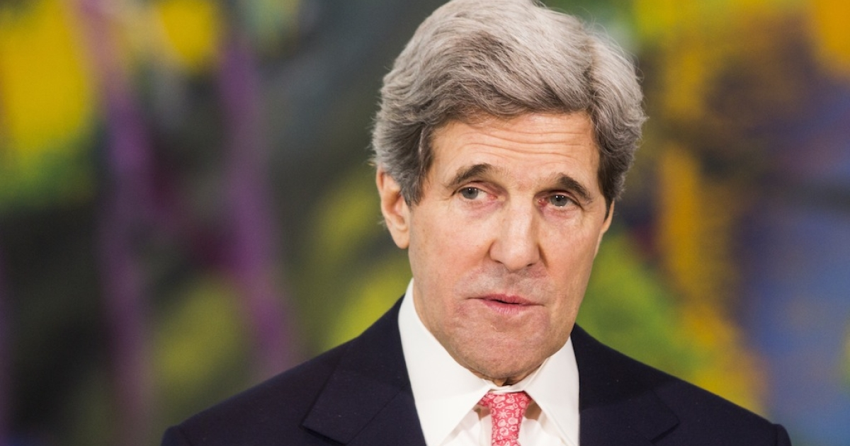 U.S. Secretary of State John Kerry speaks during a statement to the press on Feb. 26, 2013 in Berlin, Germany.</p>