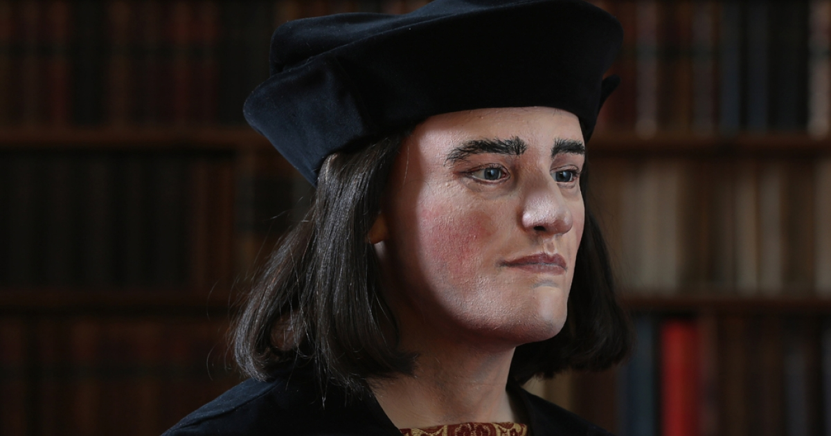 A facial reconstruction of King Richard III is unveiled by the Richard III Society on Feb. 5, 2013, in London. After  carrying out a series scientific investigations on remains found in a car park in Leicester, the University of Leicester announced that they were those of King Richard III.</p>