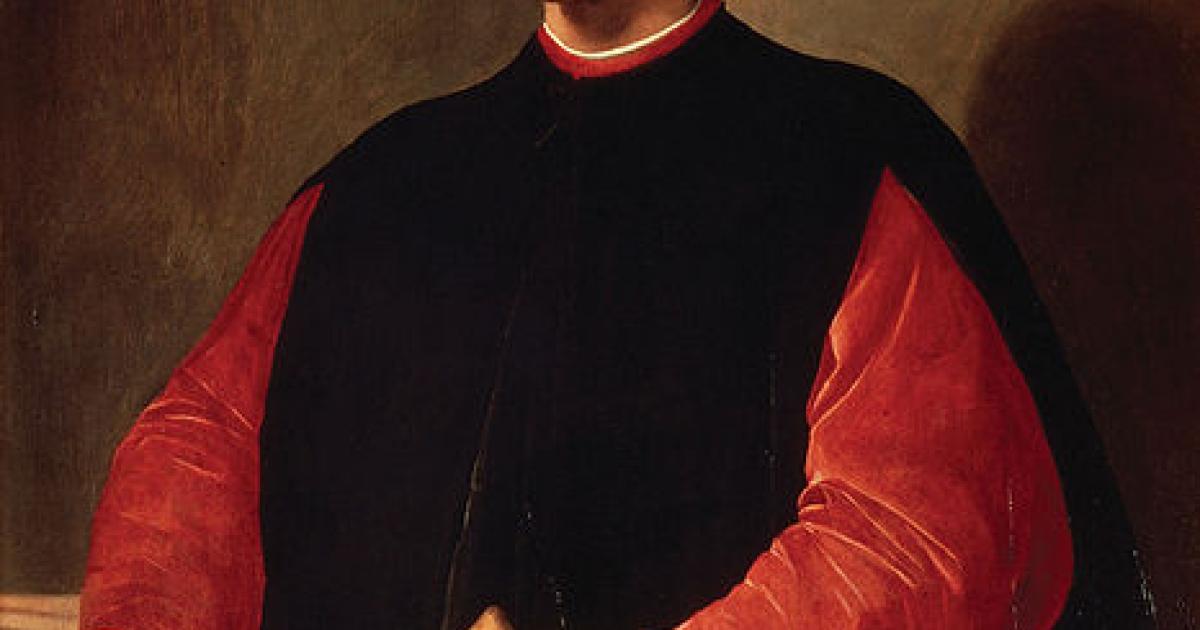 Portrait of Niccolò Machiavelli by Santi di Tito.</p>