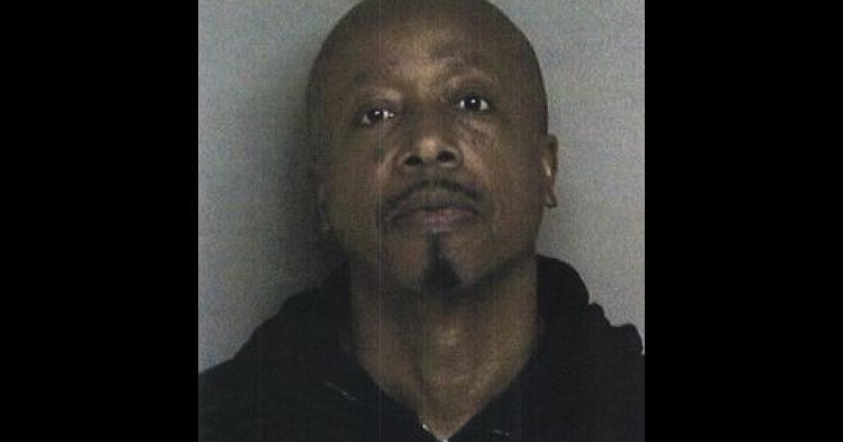 Rapper MC Hammer's booking shot. The 1990s star was arrested on charges of obstructing and resisting an officer in Dublin, California.</p>