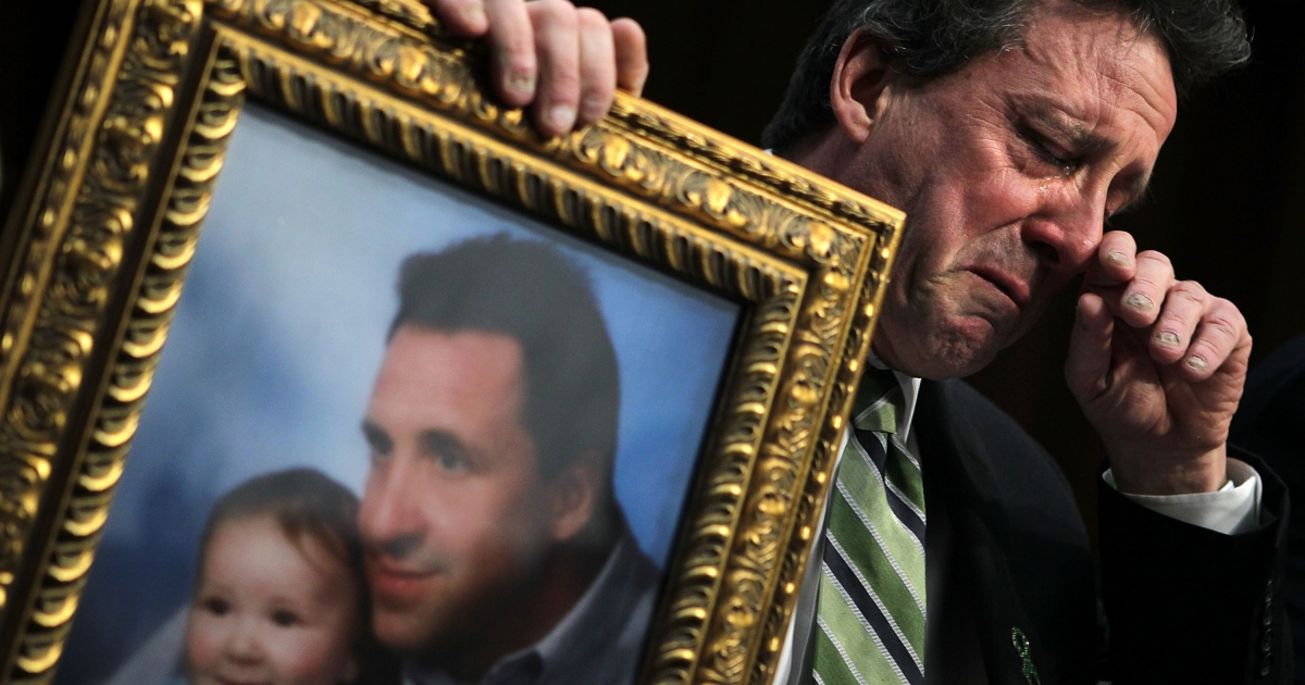 Neil Heslin sobbed as he described to the Senate in Washington DC the impact of the death of his 6-year-old son Jesse in the Sandy Hook Elementary School shooting.</p>
