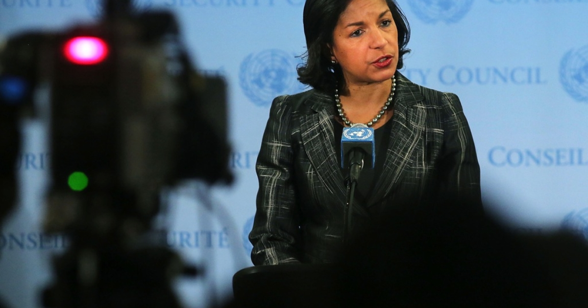 Susan Rice, the US ambassador to the United Nations, speaks to the media at the United Nations on Feb. 12 following Security Council Consolations after North Korea announced they have conducted a third nuclear test.</p>