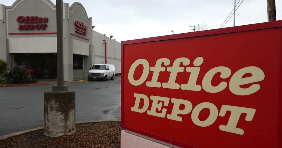 Office Depot is buying its rival, Office Max.</p>
