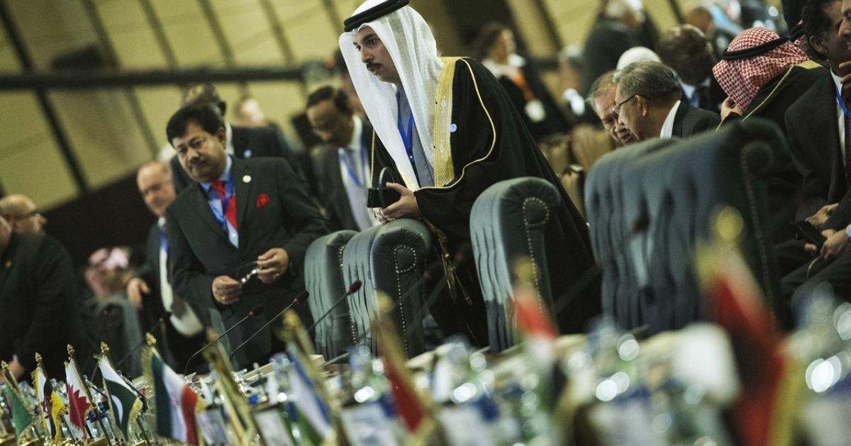Delegates at the 12th summit of the Organization of Islamic Cooperation in Cairo, Feb. 6, 2013. The meeting gathers the leaders of 26 of the OIC's 57 states.</p>