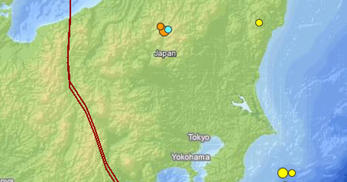 US Geological Survey imagery of the Feb 25th, 2013 earthquakes in Japan.</p>