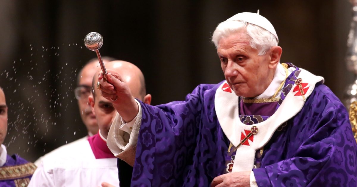 Pope Benedict XVI leads the Ash Wednesday service at the St. Peter's Basilica on Feb. 13, 2013, in Vatican City, Vatican. Benedict's announcement that he will resign on Feb. 28 took many by surprise, but the focus has since turned to who will be his successor as pope.</p>