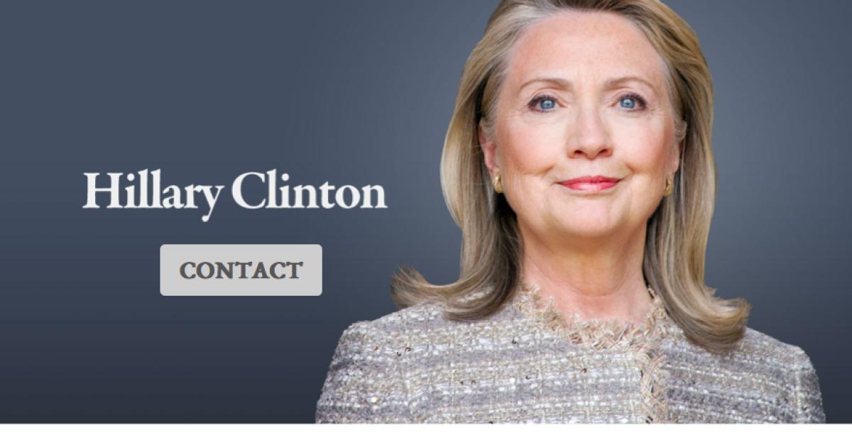 The Hillary Clinton website.</p>