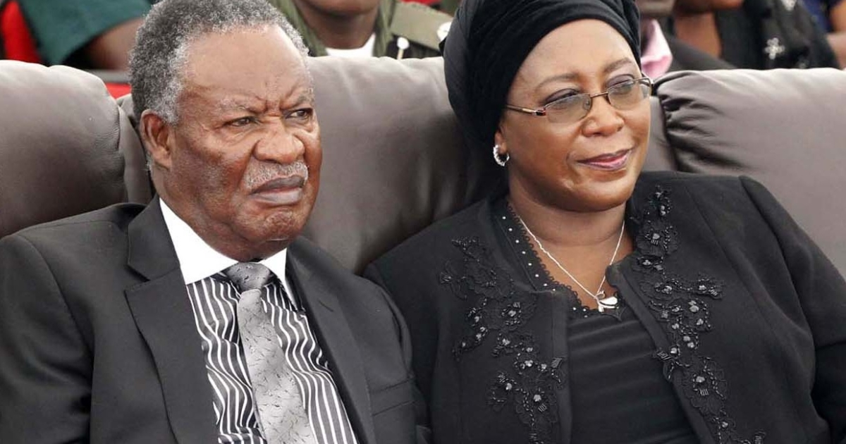 Would-be dictator? President Michael Sata and his wife Dr. Christine Kaseba.</p>