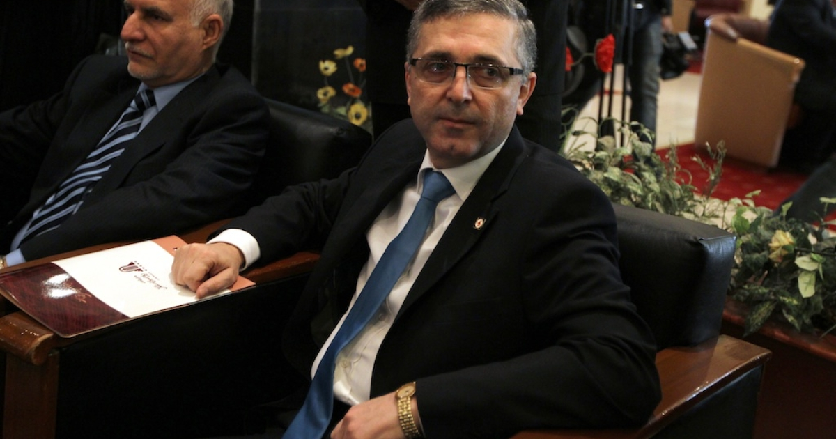 Syria's minister for national reconciliation, Ali Haidar,</p>