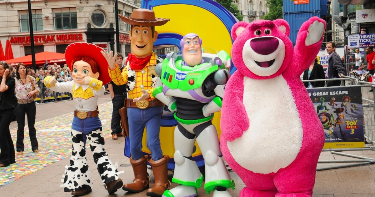 Charactures from Toy Story attend the Toy Story 3 UK film premiere at the Empire Leicester Square on July 18, 2010 in London, England.</p>