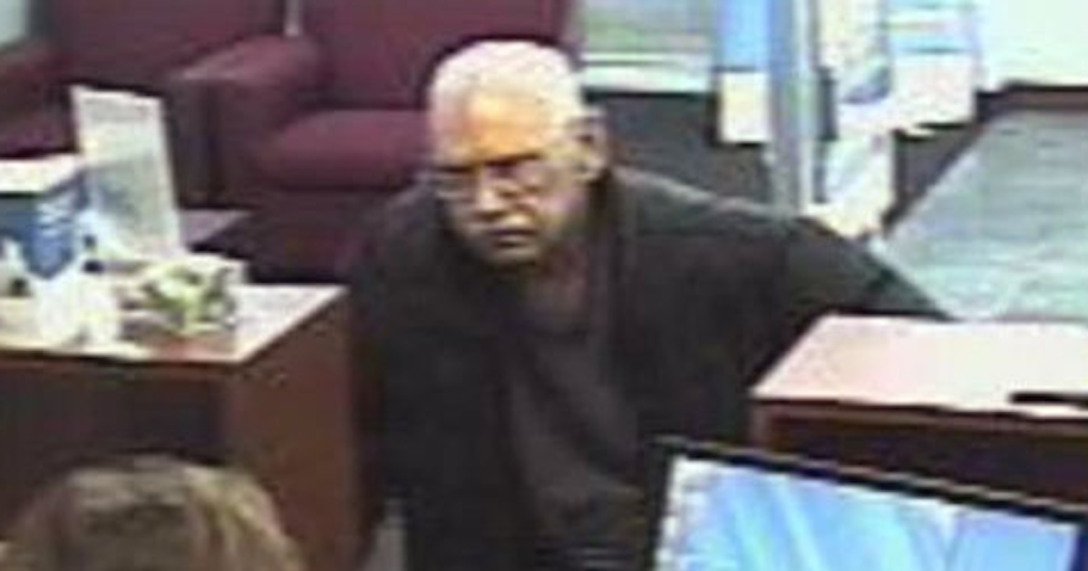 This image purportedly shows Walter Unbehaun during the weekend bank robbery.</p>