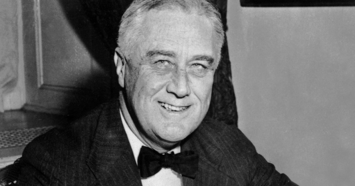 An undated portrait of US President Franklin D. Roosevelt.</p>