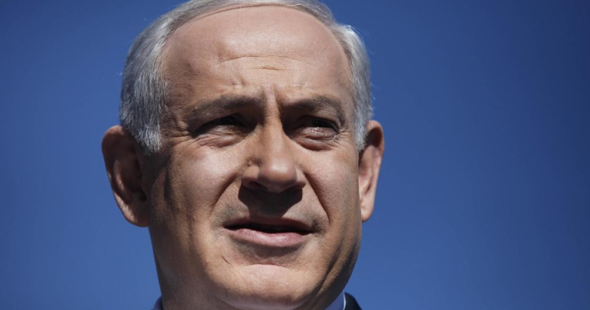 Israeli Prime Minister Benjamin Netanyahu speaks to the press on Jan. 21, 2013 in Jerusalem.</p>