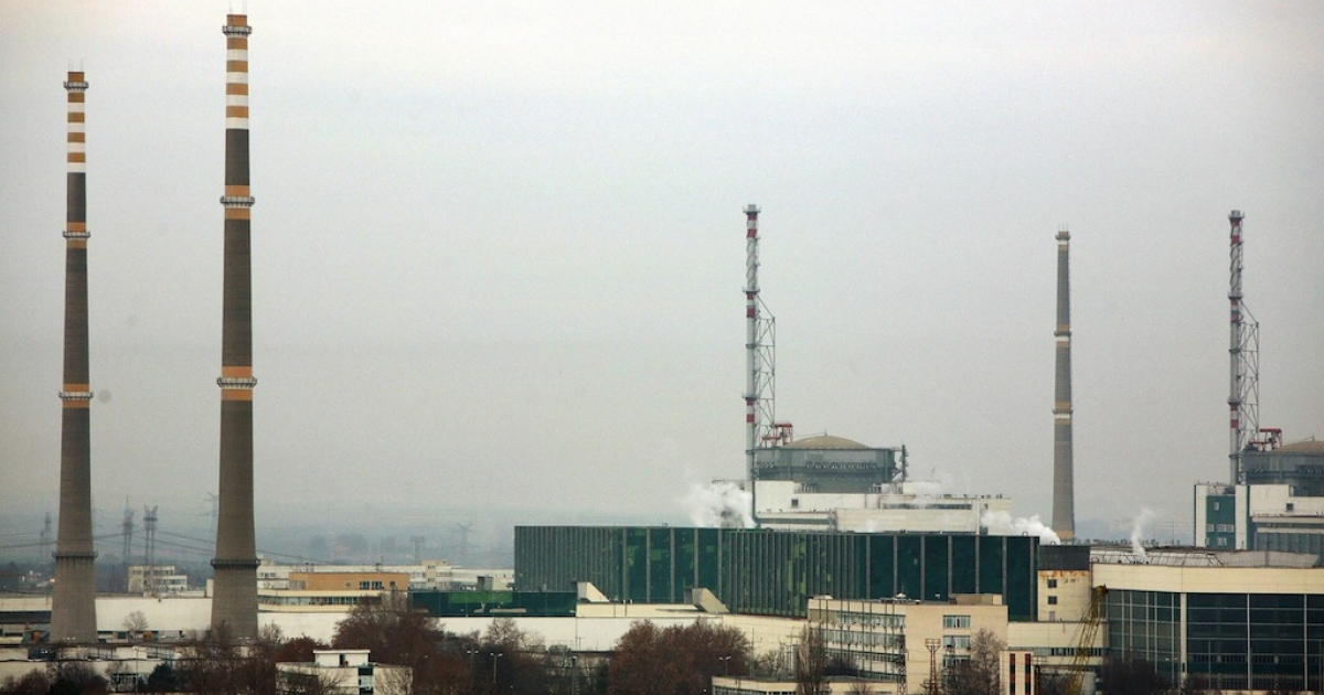 This file picture taken on December 18, 2006 shows a general view of Bulgaria's nuclear power plant near the town of Kozloduy, 200 kms north of Sofia.</p>