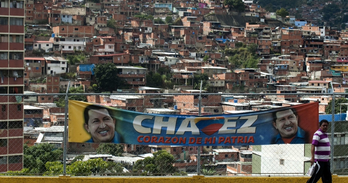 Even in his long absence for cancer treatment in Cuba, Venezuelan President Hugo Chavez seems omnipresent, especially in slums like Caracas' 23 de Enero.</p>