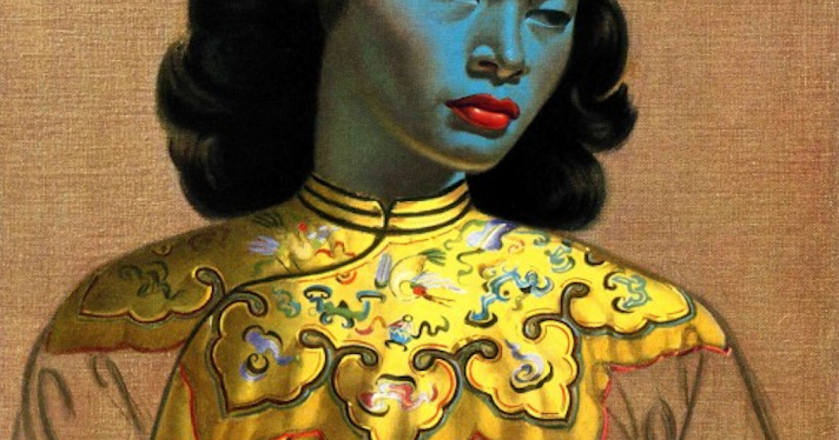 Reproductions of the 'Chinese Girl' portrait adorn millions of sitting-room walls around the world.</p>