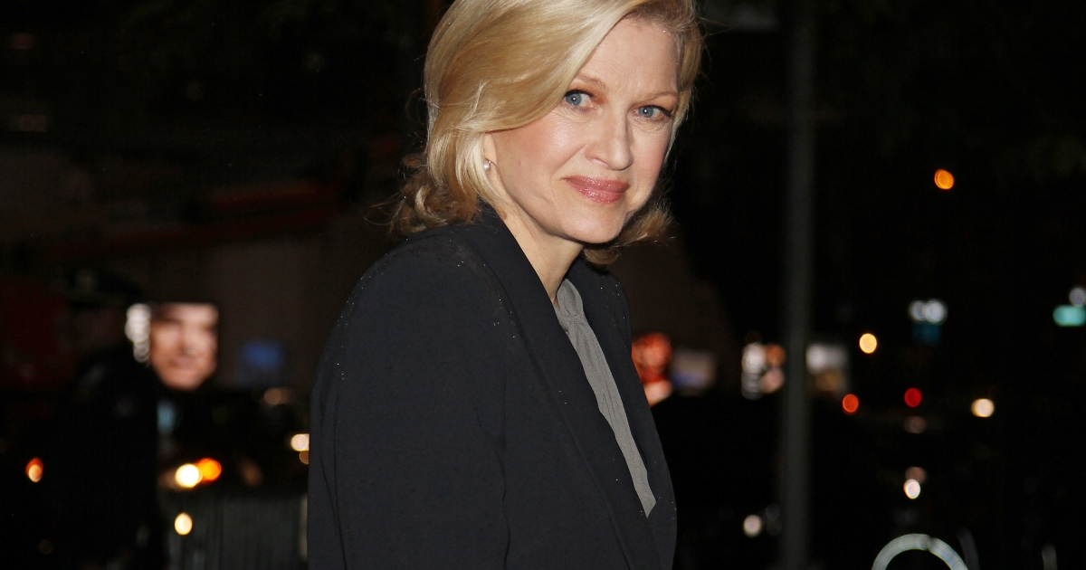 Diane Sawyer attending a memorial service for Marvin Hamlisch at the Peter Jay Sharp Theater in New York City on Sept. 18, 2012.</p>