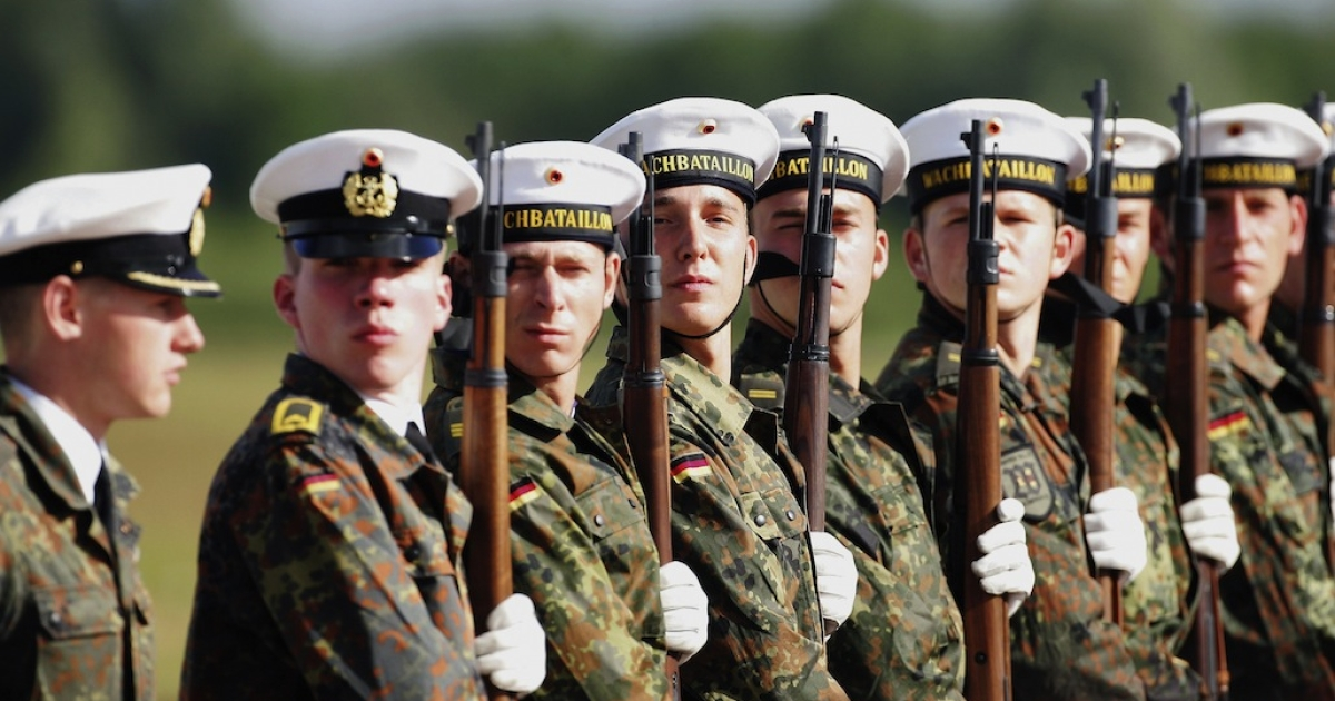Soldiers with an elite military battalion in German have reported a surprising medical condition - man boobs. Experts say thumping rifles against their chests during drills is stimulating the production of hormones that cause breast growth.</p>