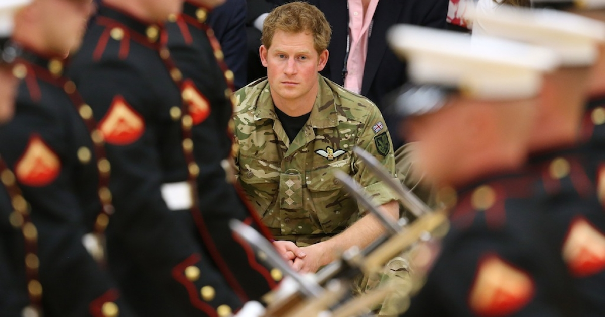 Prince Harry attends the Opening Ceremony of the Warrior Games during the third day of his visit to the United States on May 11, 2013 in Colorado Springs, Colorado.</p>