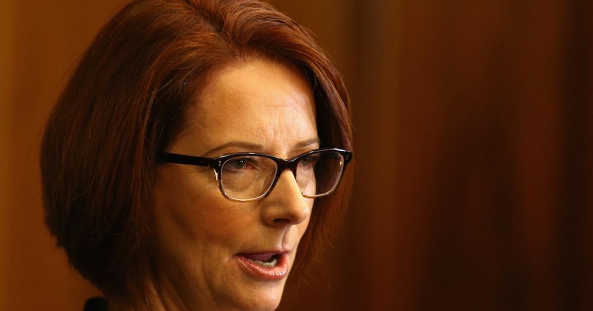 Australian Prime Minister Julia Gillard. (Cameron Spencer/AFP/Getty Images News)</p>