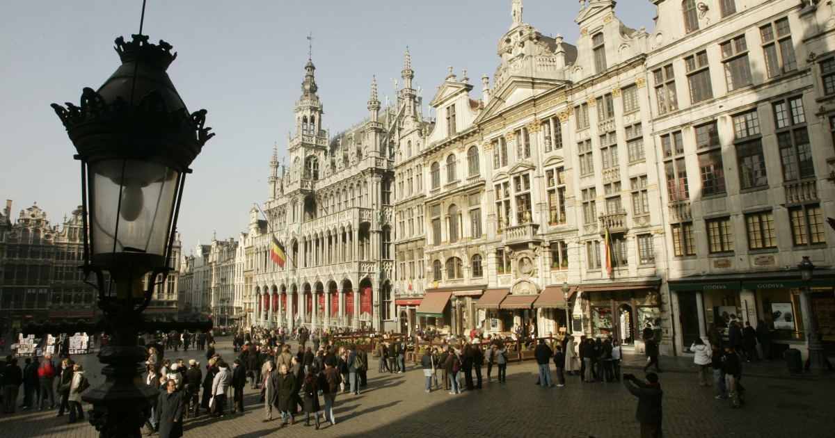 La Grande Place is only part of a city of divided populations.</p>