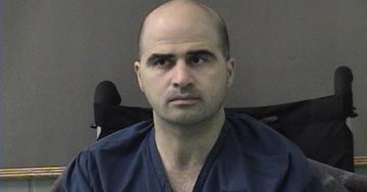 BELL COUNTY, TX - APRIL 9: In this photo released by the Bell County Sheriff's Office, U.S. Maj. Nidal Hasan, the Army psychiatrist who is charged with murder in the Fort Hood shootings, is seen in a booking photo after being moved to the Bell County Jail on April 9, 2010 in Belton, Texas.</p>