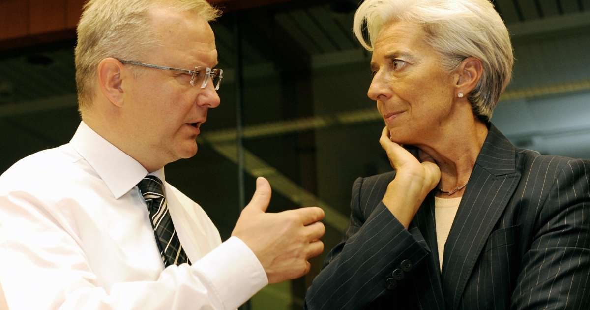 Team players? Rehn and Lagarde.</p>