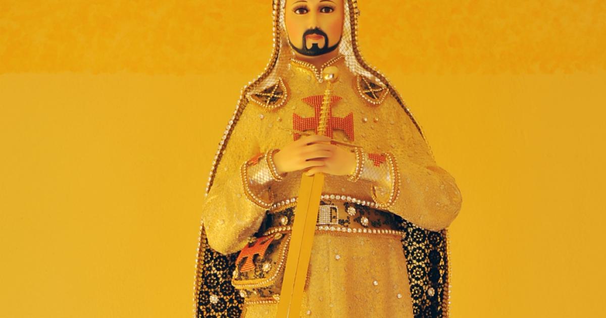 A statue of Nazario Moreno as
