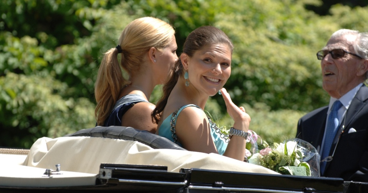 Princess Victoria and Princess Madeleine attend The Sigvard Bernadotte Exhibition at Sofiero on June 7, 2008 in Helsingborg, Sweden.</p>