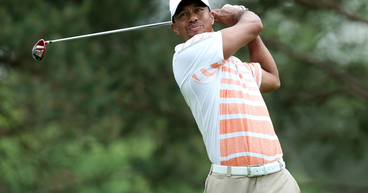 Tiger Woods during the second round of the Memorial Tournament in Dublin, Ohio.</p>