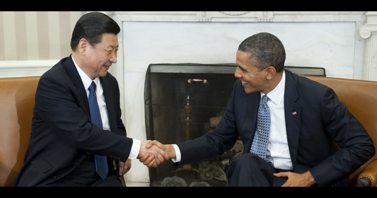 US President Barack Obama shakes hands with his Chinese counterpart Xi Jinping, who was then China's vice president in his February 2012 visit to Washington.</p>