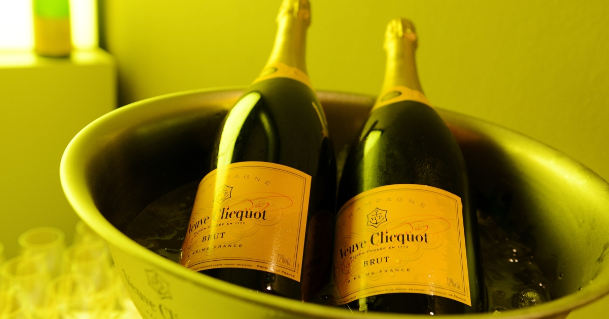 The British inflation basket of good has taken out champagne in bars - likely a sign of austere times.</p>