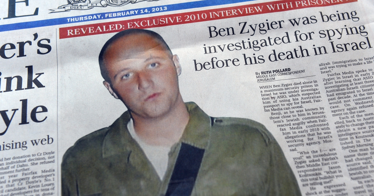 Australian newspapers led their front pages in Australia with the story of Ben Zygier after Israel confirmed it jailed a foreigner in solitary confinement on security grounds who later committed suicide, with Australia admitting it knew one of its citizens had been detained.</p>
